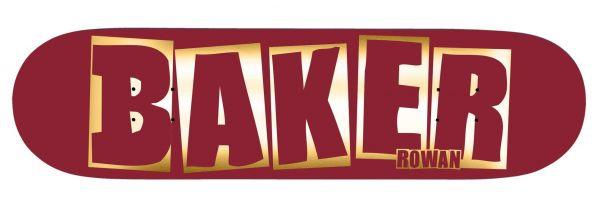 Baker Skateboard Deck Brand Logo Red Foil B2 RZ 8.3