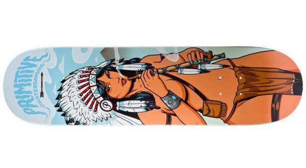 Primitive Native American Woman Skateboard Deck 8.38