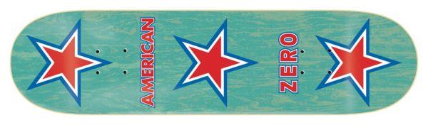 Zero American Zero Blue Skateboard Deck 8.375