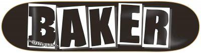 Baker Skateboard Deck Brand Logo Black/White 8.0