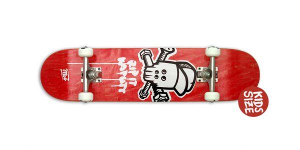 MOB Skateboards Komplettboard Skull Micro red - 6.5