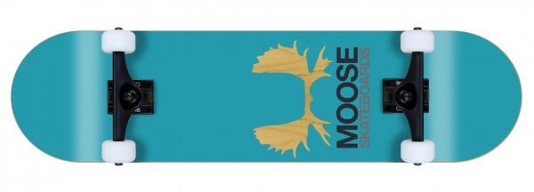 Moose komplett Skateboard Antlers blue