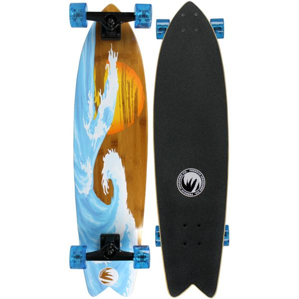 Paradise Bamboo Sunset Wave Freestyle Komplett Longboard