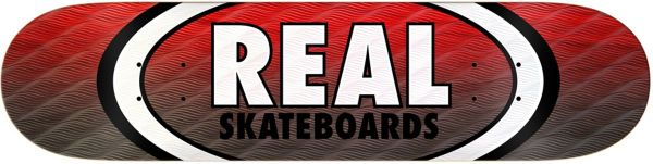 Real Team Parallel Fade Oval Skateboard Deck 7.75