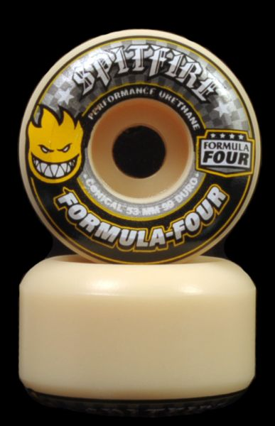 Spitfire Skateboard Rollen F4 Conical Yellow 99A 53mm