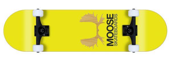 Moose komplett Skateboard Antlers yellow