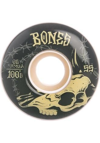 Bones Wheels Skateboard Rollen 100´s OG Desert Skull V4 100A 54mm