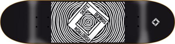 Robotron Square Handjob Black Skateboard Deck 8.25