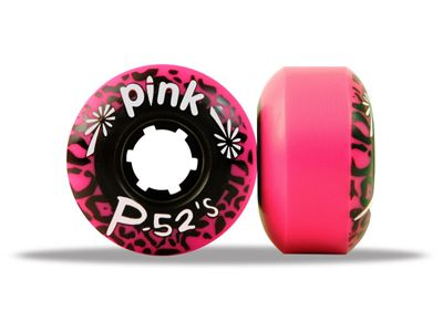 Pink Skateboard Wheels 52's Pink 96A 52mm