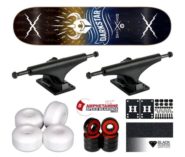 Darkstar Team Axis Yellow Blue PP Komplett Skateboard 8.125