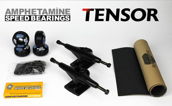 Skateboard Achsen Set Tensor Alu 5.25 black