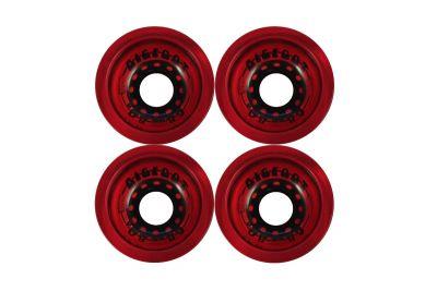 Bigfoot Boardwalks Longboard Wheels Clear Red 68mm 80a