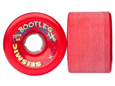 Seismic Bootleg Longboard Wheels 70mm 80A Opaque Red
