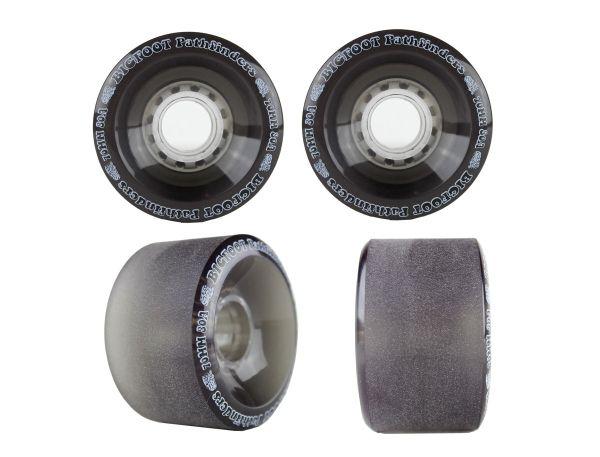 Bigfoot Pathfinders Longboard Wheels Clear Black 70mm 80a