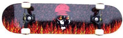 Krown Complete Skateboard Pro Red Skull Flame 7.75