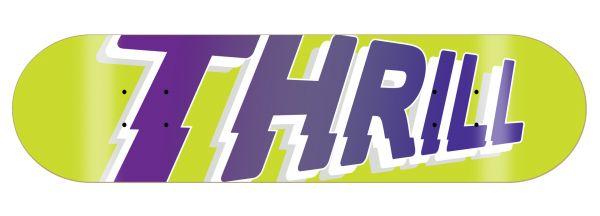 Thrill Skateboard Deck Logo Yellow