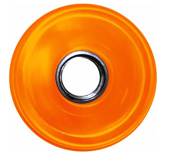 Blank Longboard Wheels Clear Orange 82A 76mm