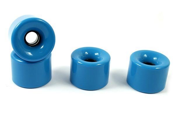 Blank Longboard Wheels Cyan Blue 70mm 82a