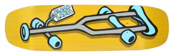 Black-Label Team OG Crutch Curb Cut Yellow Stain Skateboard Deck 8.5