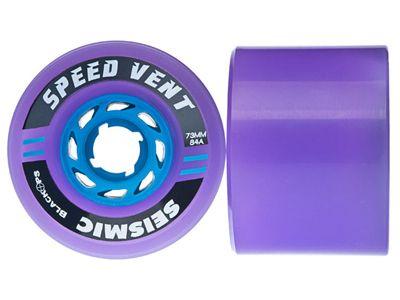 Seismic Speed Vent Longboard Wheels 73mm 84A Translucent Purple