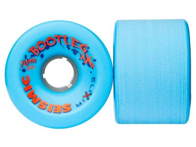 Seismic Bootleg Longboard Wheels 70mm 84A Opaque Blue