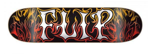 Flip Alchemy Red Gold Skateboard Deck 8.25