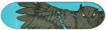 Antiz Owlystick Blue Skateboard Deck 8.2