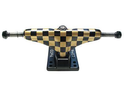 Core Trucks Skateboard Achse checkered gold/schwarz 5.0