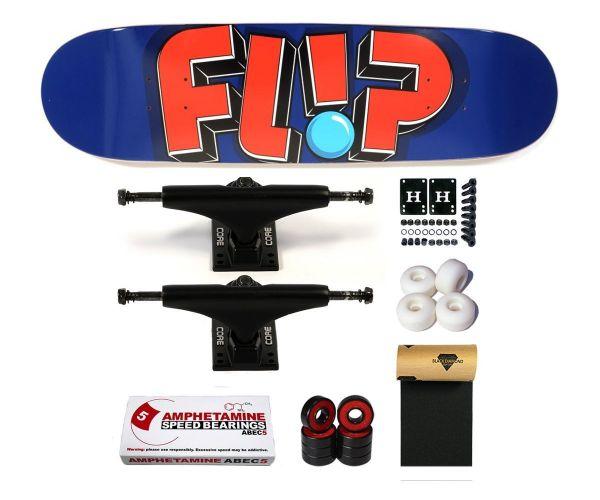 Flip Team Odyssey Jumbled Navy Komplett Skateboard 8.25
