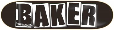 Baker Skateboard Deck Brand Logo Black/White 8.4