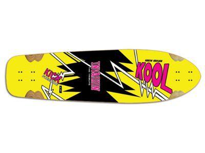 Invasion by JET Kool Kick The Tribute Longboard Deck 38.0 x 10.2
