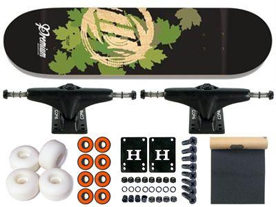 Premium Scraper Series Brummet Green Komplett Skateboard 7.875