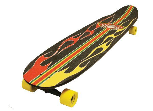 Paradise Complete Longboard Kicktail Rasta Hot Rod 55x11