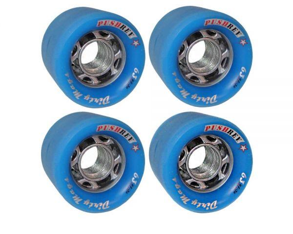 PUSHREV Dirty Mags Longboard Wheels 63mm 80A Blue