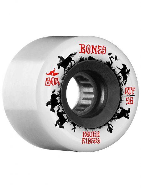 Bones Wheels ATF Rough Riders Wrangler White 80a 59mm
