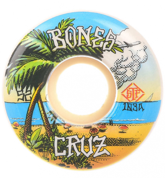 Bones Wheels Skateboard Rollen STF Cruz Buena Vida 103A V2 53mm