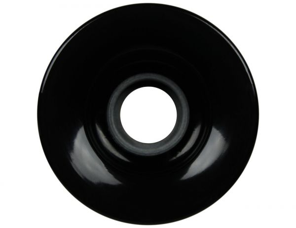 Blank Longboard Wheels Black 68mm 78a