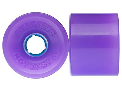 Seismic Hot Spot Longboard Wheels 69mm 84A Translucent Purple