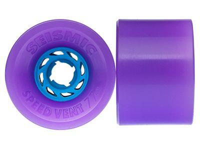 Seismic Speed Vent Longboard Wheels 77mm 83A Translucent Purple
