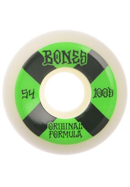 Bones Wheels Skateboard Rollen 100s white OG#4 Sidecut 81B V5 54mm