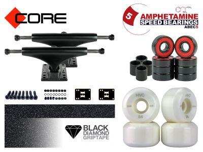 Skateboard Achsen Set-up Core black 5.0