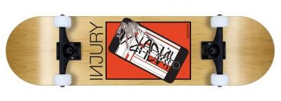 INJURY komplett Skateboard Bye-Phone