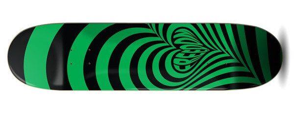 Freedom Hypnolove Halloween Green Skateboard Deck
