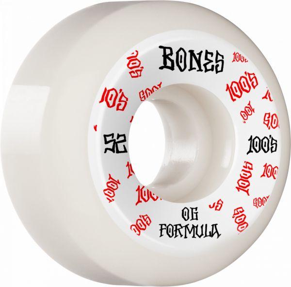 Bones Wheels 100's OG #3 V5 white 52mm