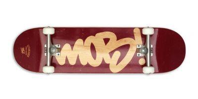 MOB Skateboards Komplettboard Tag Logo burgundy - 8.5