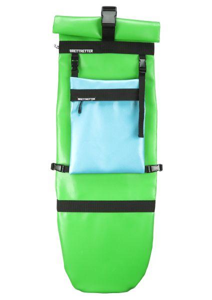 Brettretter Skateboard Crossbag 2.0 grün / blau