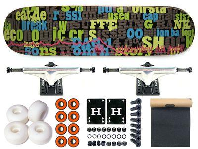 FUA Crisis Komplett Skateboard 7.63