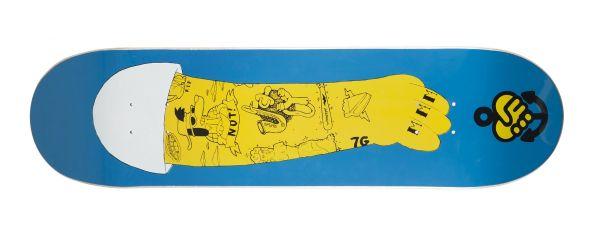 The Friend Ship La Vida Homer Left Skateboard Deck 8.25