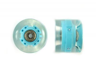 Blank Skateboard Cruiser Rollen LED Blau 82A 65mm